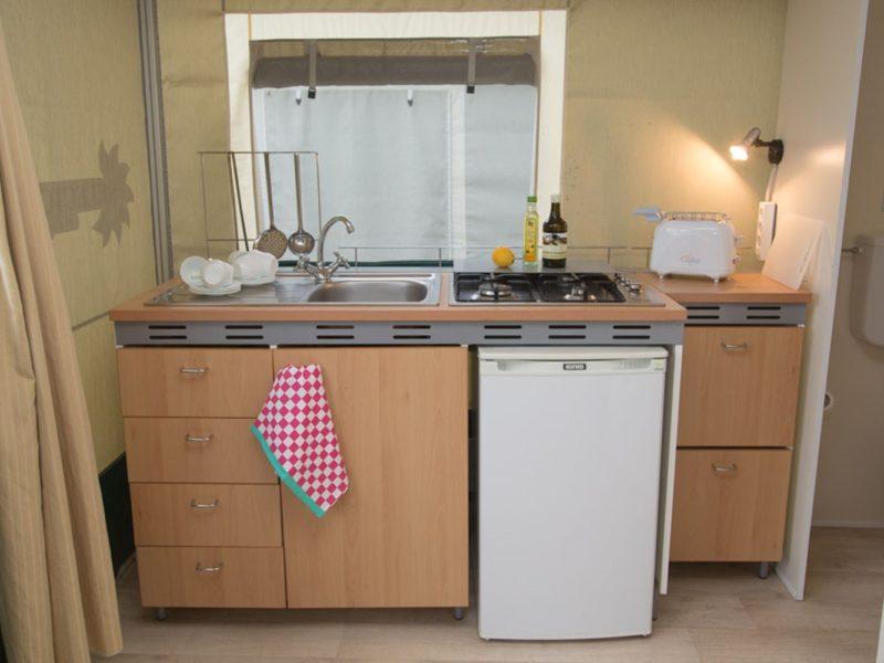 lodgetent selectcamp keuken